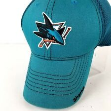 New Era San Jose SJ Sharks Large XL NHL Teal Fitted Mesh Jersey Embroidered Cap