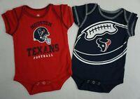 NFL Houston Texans 3 Pack Bodysuit Romper Jumpsuit Outfits Baby Fanatics
