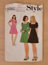 c4511e2cd082c5 Style Misses Dress Sewing Pattern No 4652 Size 12 (Bust 34) New/Uncut