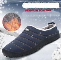 Mens Winter Indoor Slippers House Fur Outdoor Warm Waterproof Cozy Casual  ! !