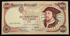 More details for portugal 500 escudos banknote (p170a) 1966 grade: mint unc