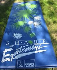 "VINTAGE KHD DEUTZ ALLIS ""SHARE THE EXCITEMENT"" 10.3 FEET by 4.6 FEET BANNER"