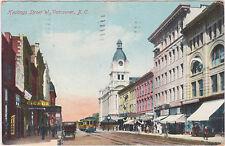 Vancouver,B.C.,Canada,Hastings Street West,Trolley Car,Used,1909