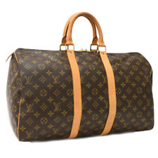 Auth LOUIS VUITTON Monogram Keepall Bandouliere 45 M41428 Traveling bag Brown