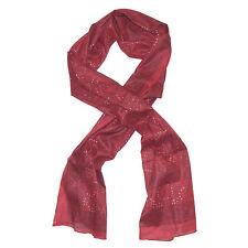 Sciarpa indiana Paisley floreale colore rosso 180x50 cm 100% cotone