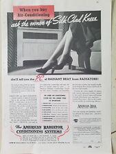 1937 American Radiator Co Air Conditioning Heating silk clad knees legs ad