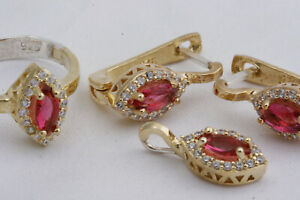new  Turkish Ottoman Jewelry 925 Sterling Silver Quartz Topaz Women Set