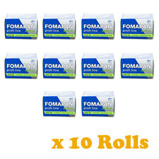 10 Rolls x FOMAPAN 400 Profi Line Action Black & White Film 35mm 36exp by FOMA