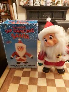 "Vintage 90s Boxed Li-Lo 12"" Animated Tap Dancing Santa Plays Jingle Bells FAULTY"