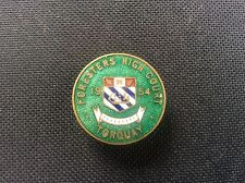 1954 AOF Ancient Order of Foresters Torquay High Court Enamel Badge Pin 1950s