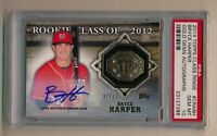 2014 Topps Rookie BRYCE HARPER Autographed Auto Card 7 of 10 PSA GEM MINT 10