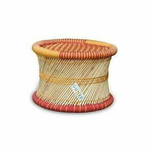 Rajasthan Handmade Cane Bar Stool/Poufs for Indoor/Outdoor Furnishings