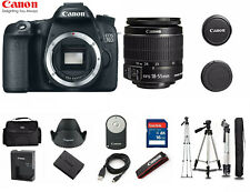 Canon 70D EOS DSLR Digital Camera with EF-S 18-55mm IS 1894C002 + Tripod