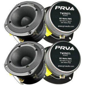 "4 Pack PRV Audio 3.5"" Super Bullet Tweeter 120 Watts Max 8 Ohm Car TW350Ti"