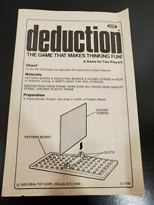 1976 Ideal deduction Game replacement parts - You Choose