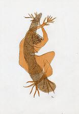 50% SALE   ORIGINAL 1952 SIGNED HENRI LAURENS Color Lithograph DAPHNE Framed COA