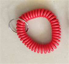 Spiral Wrist Coil Key Chains / New in Sealed Bag / Free shipping Dark red A17