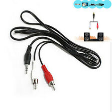 Cool Male Stereo Plug to AV Audio Jack 2 RCA Adapter M/M Cable For iPod MP3 FT88