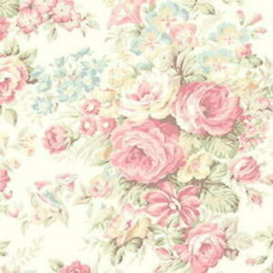 Cottage Shabby Chic Quilt Gate Classic Library Cotton Fabric QUGRU2400-12A BTY