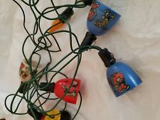 Vintage Ge Christmas Lights featuring Popeye and Scrappy