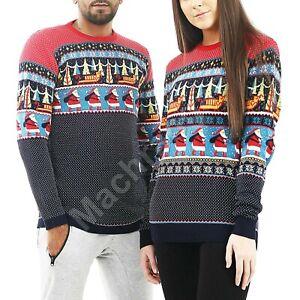 Christmas Jumper / Xmas Matching Sweater Sweatshirt - His Hers Santa
