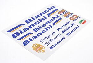 BIANCHI Decals Sticker Aufkleber Dekor 16-teilig Set Rennrad road bike Vintage