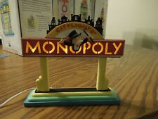Department 56 Monopoly City Lights sign, lighted