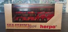 Herpa 1994 HO Bus Edition #174633 Setra S 228 DT Made in Germany. Scale 1:87