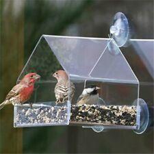 Bird Container Feeder Feeding Suction Wild Outdoor Garden Hanger Seed Station