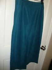 "Vintage Briggs New York Long Sz 10 Skirt CAREER Teal Waist 31"" Length 34""    307"