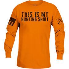 Grunt estilo esta es mi Caza Camisa Manga Larga Camiseta-Naranja