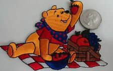 Winnie The Pooh Picnic - Disney Cartoon Classic Embroidered Iron On Patch - Rare