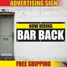Now Hiring Bar Back Banner Advertising Vinyl Sign Flag Recruitment Job Fair Work