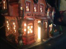 Vintage~Santa's Workbench~LightedSilver Bells Bed & Breakfast~Collectible 9-1/2H