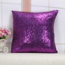 Reversible Sequins Cushion Glitter Cover Waist Sofa Throw Spangle Pillow Case