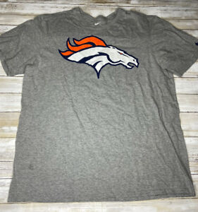 Nike Denver Broncos Men's Size XL Gray Regular Fit NFL Short Sleeve Shirt