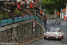 """World Rally Championship Driver Jean Ragnotti Hand Signed Photo 12x8""""  AE"""
