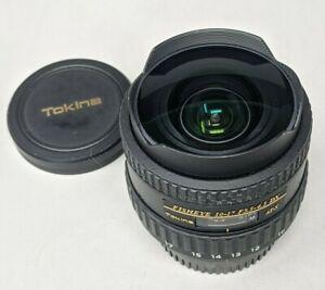 Tokina AT-X 10-17mm f3.5-4.5 AF DX Fisheye Nikon Lens