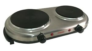 PORTABLE DOUBLE TWIN ELECTRIC HOT PLATE COOKING HOB COOKER HOTPLATE STOVE CAMPIN