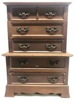 Vintage APCO Music Jewelry Box Wood 5 Drawer Chest Made in Japan