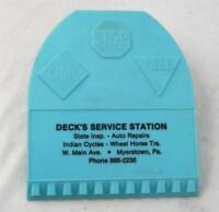 Vintage Advertising Wall Clip Board Note Holder Deck's Service Station