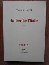JE CHERCHE L'ITALIE - YANNICK HAENEL - COLLECTION L'INFINI