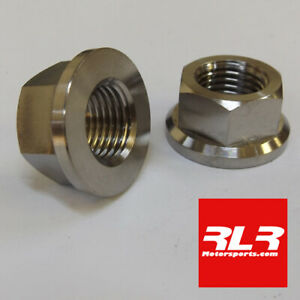 Titanium GR5 flange hex head nut  M14x1.5mm pitch