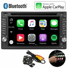 "6.2""2Din Car Stereo Radio DVD VCD MP4 Player BT FM iPhone CarPlay Cast w/ Camera"
