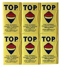 TOP Rolling Papers, 6 Pack Bundle, 600 Cigarette Paper Leaves Total