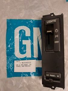 NEW 1985 86 1987 Buick Skylark Somerset headlight Dash Control Panel NOS OEM GM