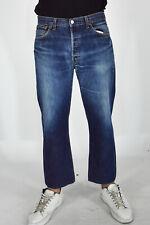 LEVI'S 501 Vintage Jeans Denim Slim Fit Blu In Cotone TG IT48-L /W34 Man Uomo