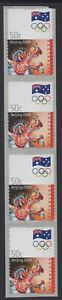 AUSTRALIA 2008 OLYMPIC GAMES, BEIJING 50c STRIP OF (4) MNH S.A.