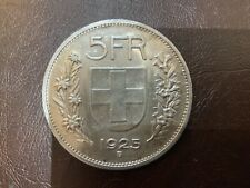 Suisse 5 Francs 1925 Bern Argent TTB II - Swiss Helvetia