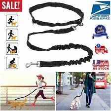 Hands Free Dog Leash Waist Belt Retractable Bungee Lead Walking Running Hiking